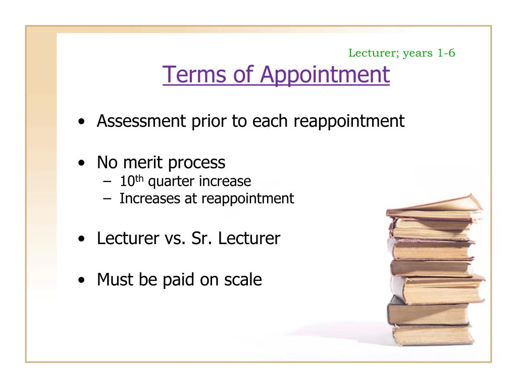 Lecturer; years 1-6