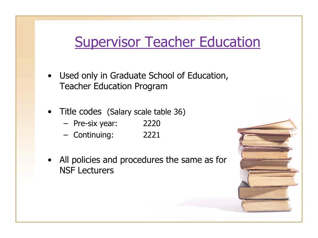 Supervisor Teacher Education