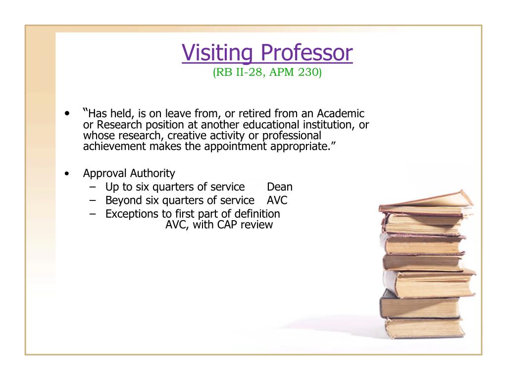 Visiting Professor