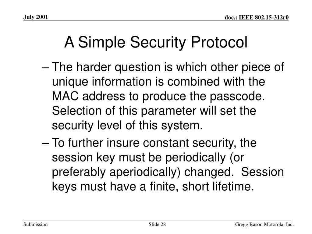 A Simple Security Protocol