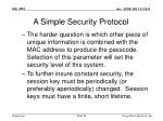 a simple security protocol28