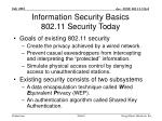 information security basics 802 11 security today