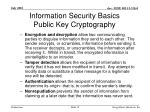 information security basics public key cryptography