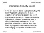 information security basics