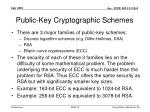 public key cryptographic schemes