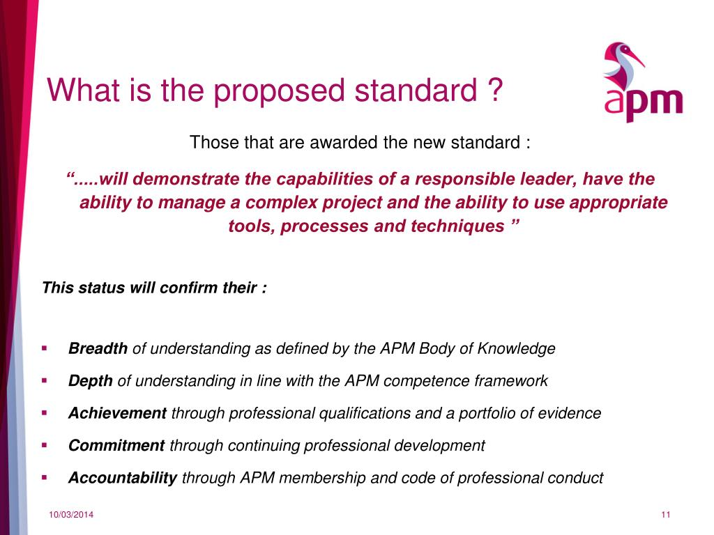 What is the proposed standard ?
