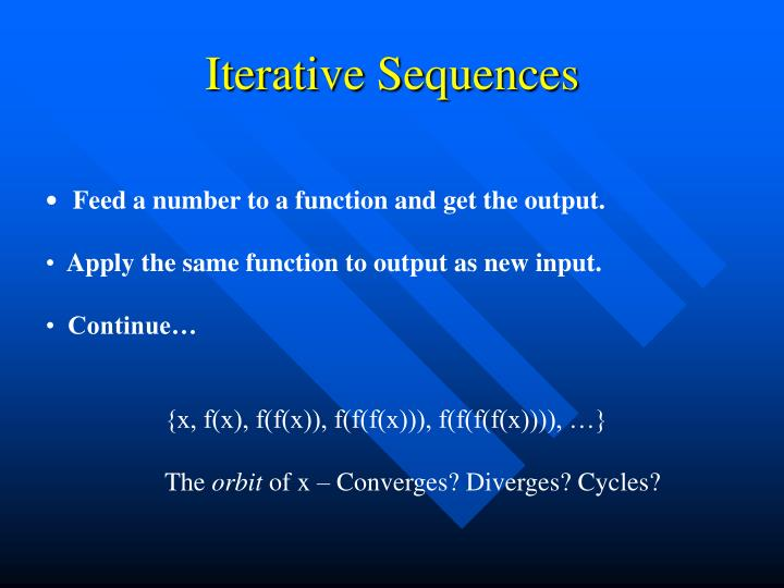 Iterative sequences