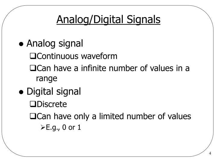 Analog/Digital Signals