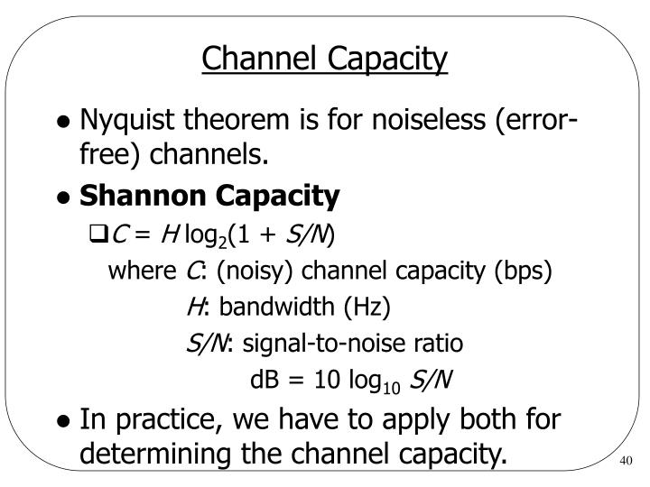 Channel Capacity