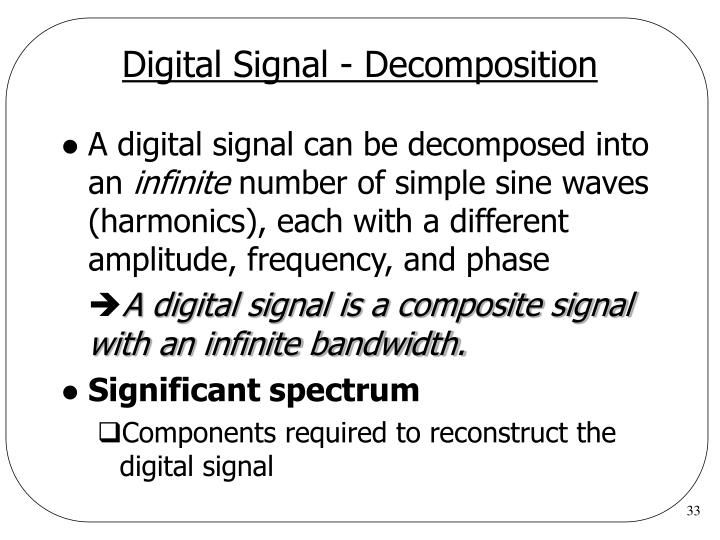 Digital Signal - Decomposition