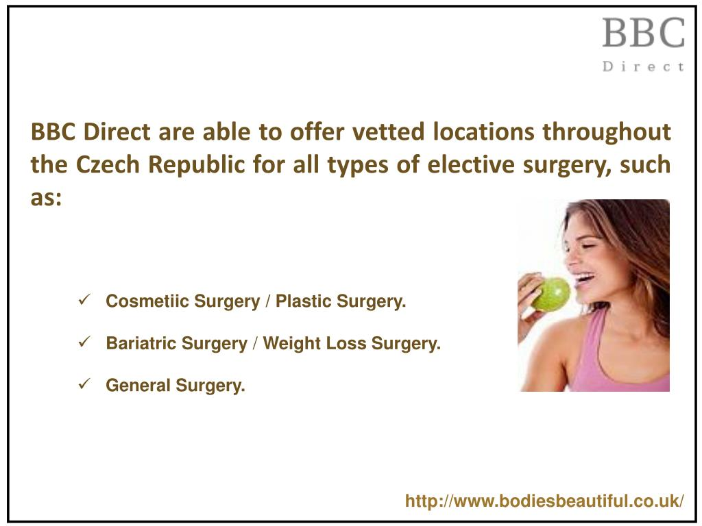 BBC Direct are able to offer vetted locations throughout the Czech Republic for all types of elective surgery, such as: