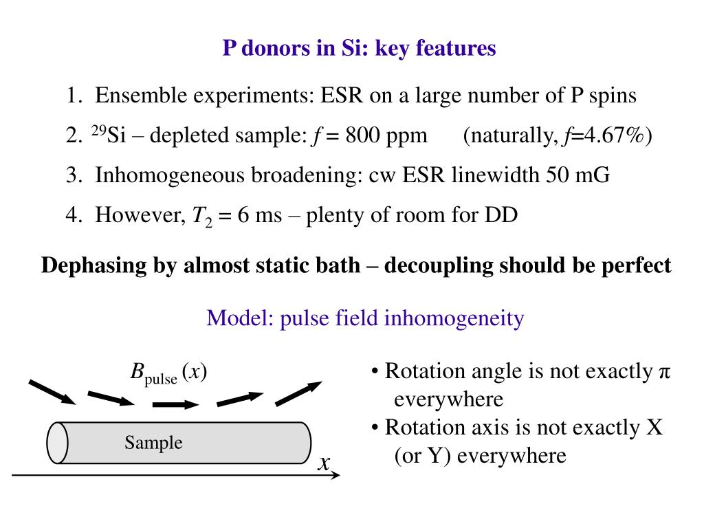 P donors in Si: key features