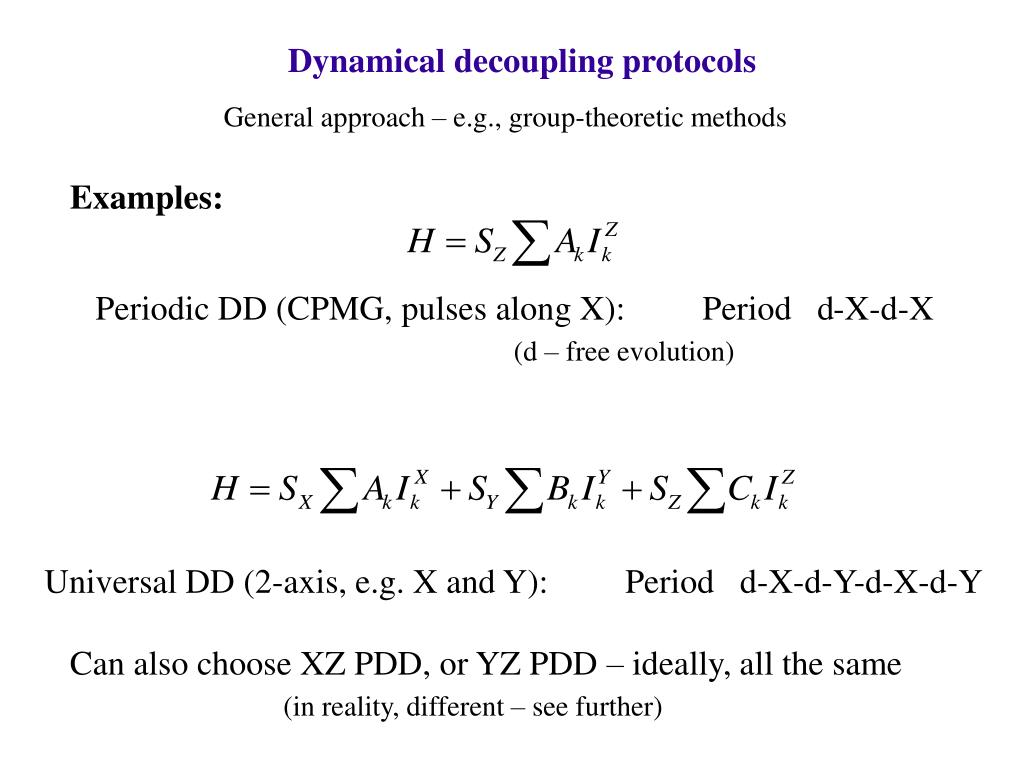 Dynamical decoupling protocols