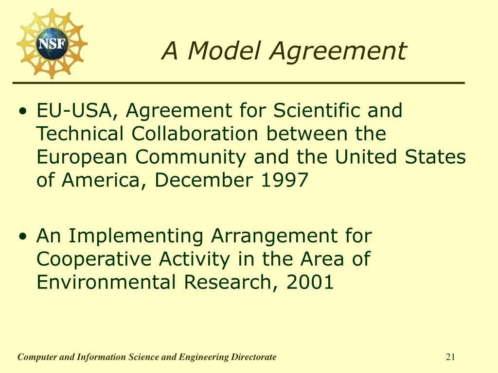 A Model Agreement