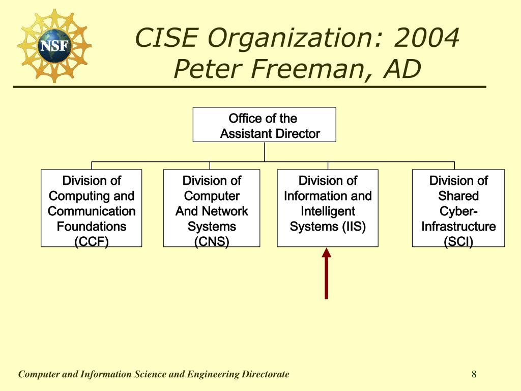 CISE Organization: 2004