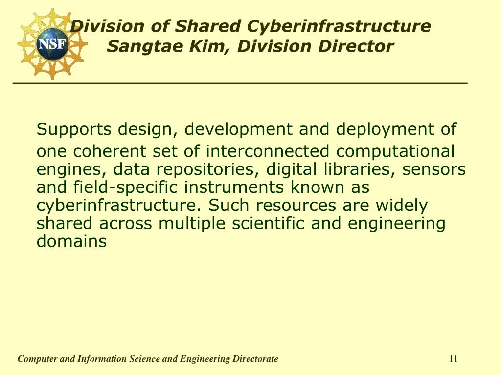 Division of Shared Cyberinfrastructure