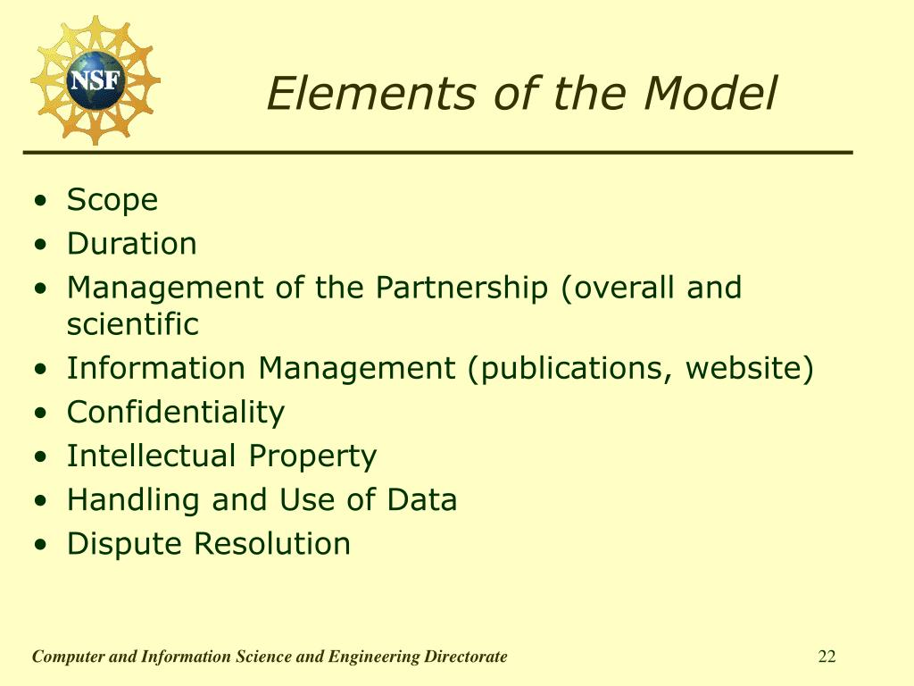 Elements of the Model