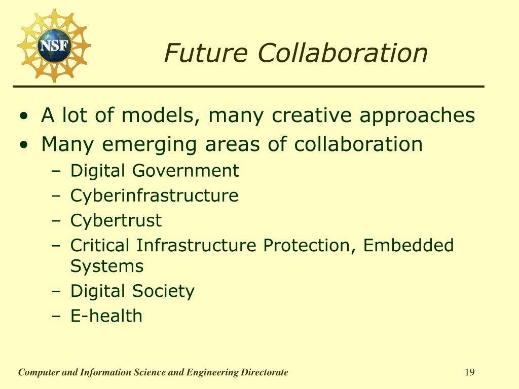 Future Collaboration