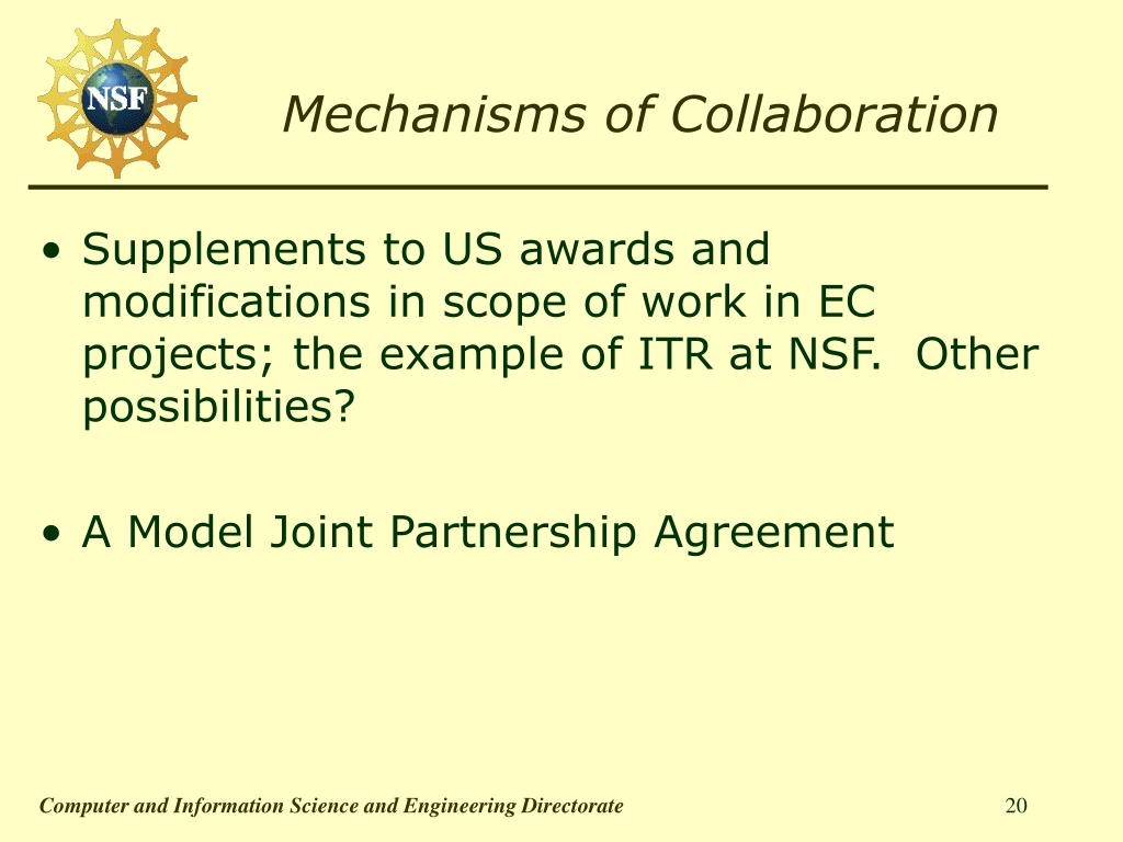Mechanisms of Collaboration