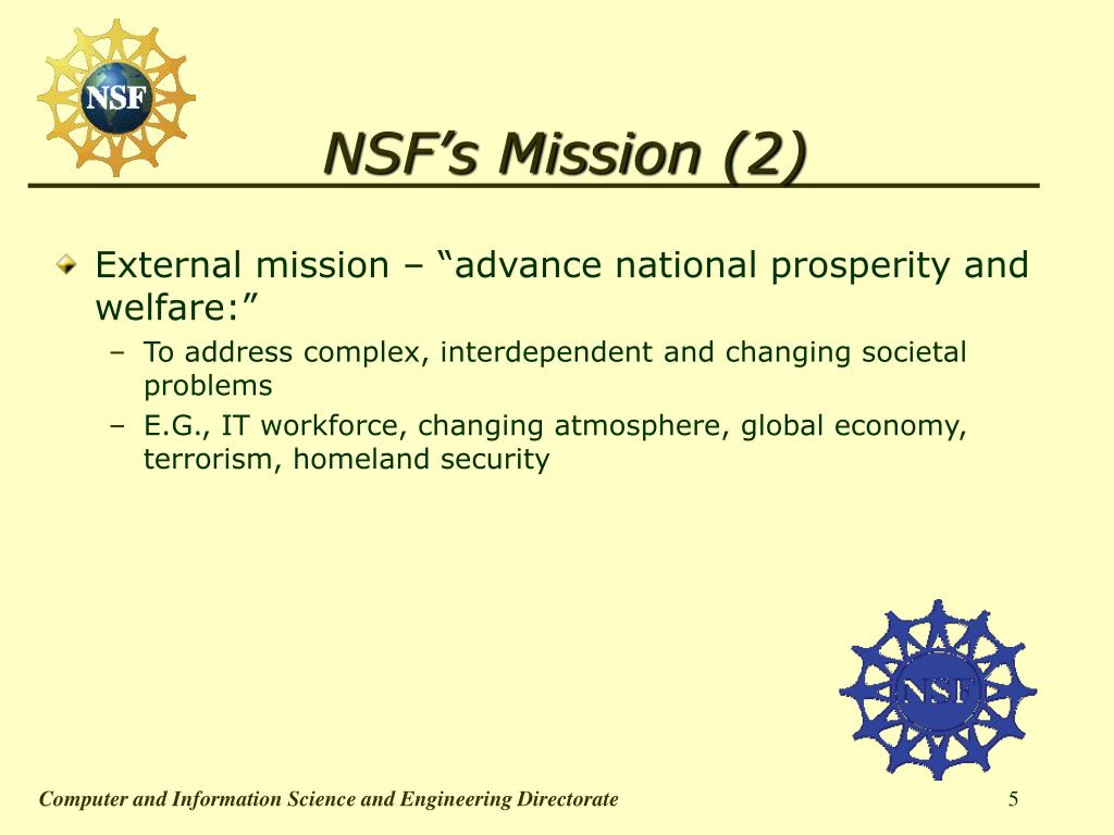 NSF's Mission (2)