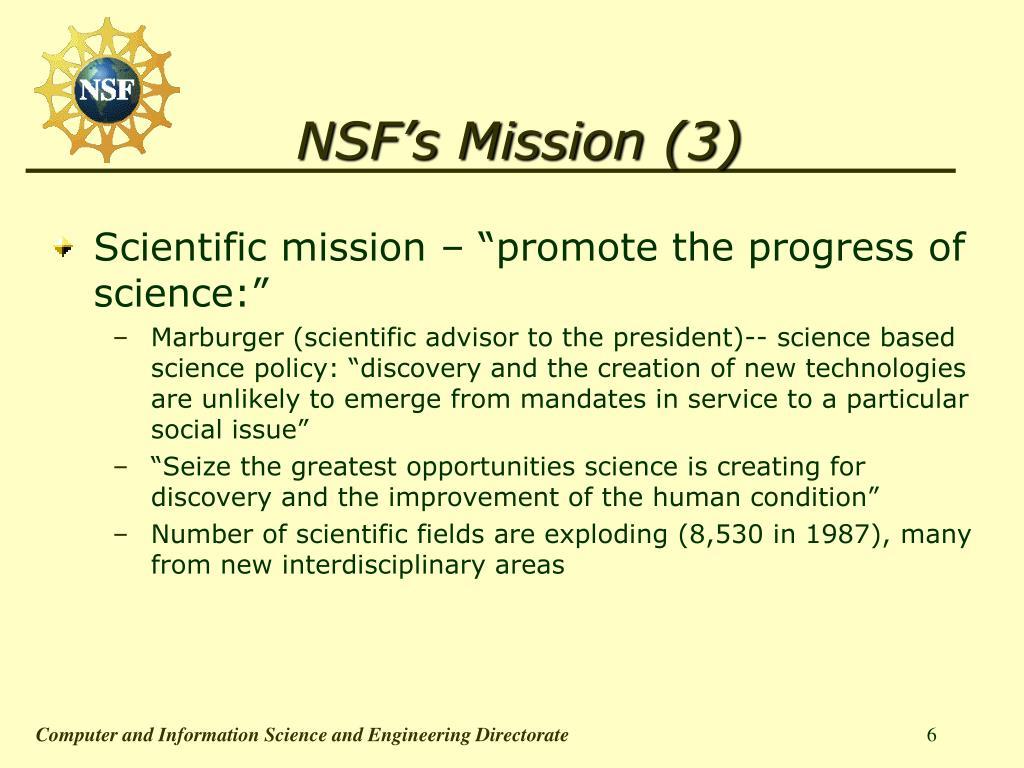 NSF's Mission (3)