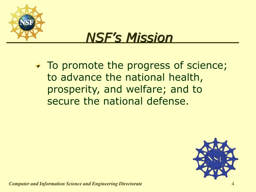 NSF's Mission