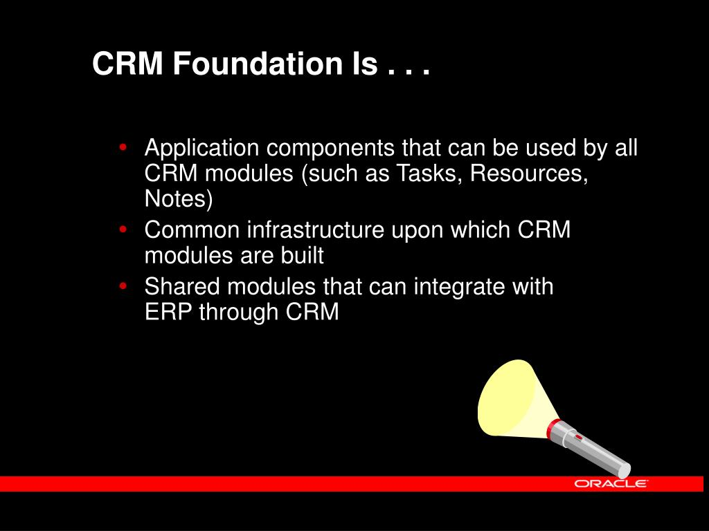 CRM Foundation Is . . .