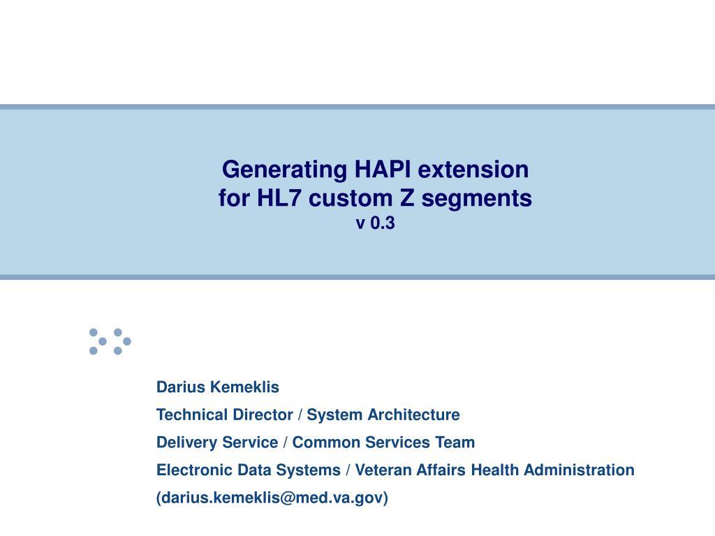 Generating HAPI extension