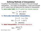 defining methods of interpolation