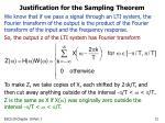 justification for the sampling theorem12