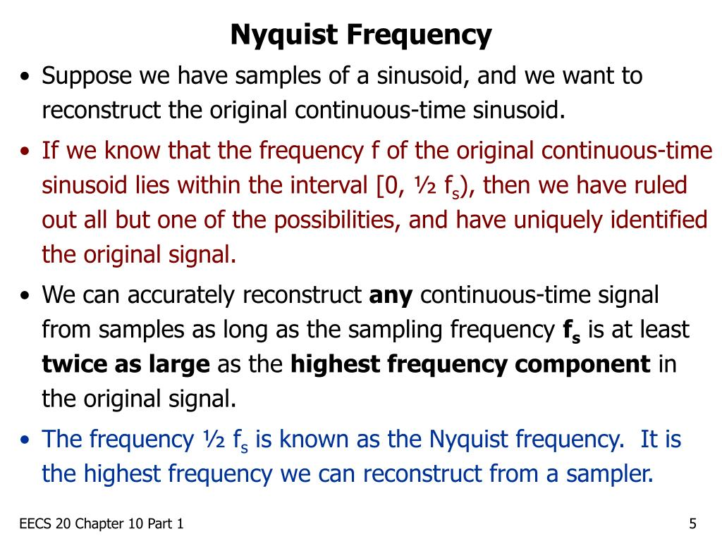 Nyquist Frequency