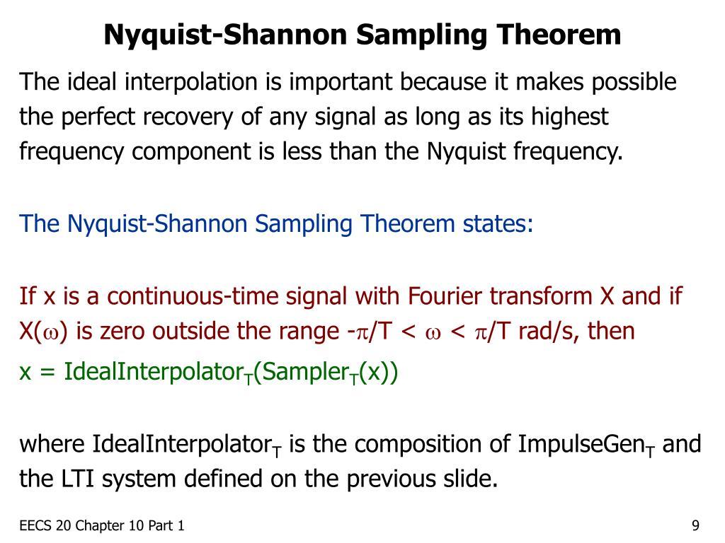 Nyquist-Shannon Sampling Theorem