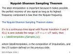 nyquist shannon sampling theorem