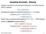 sampling sinusoids aliasing