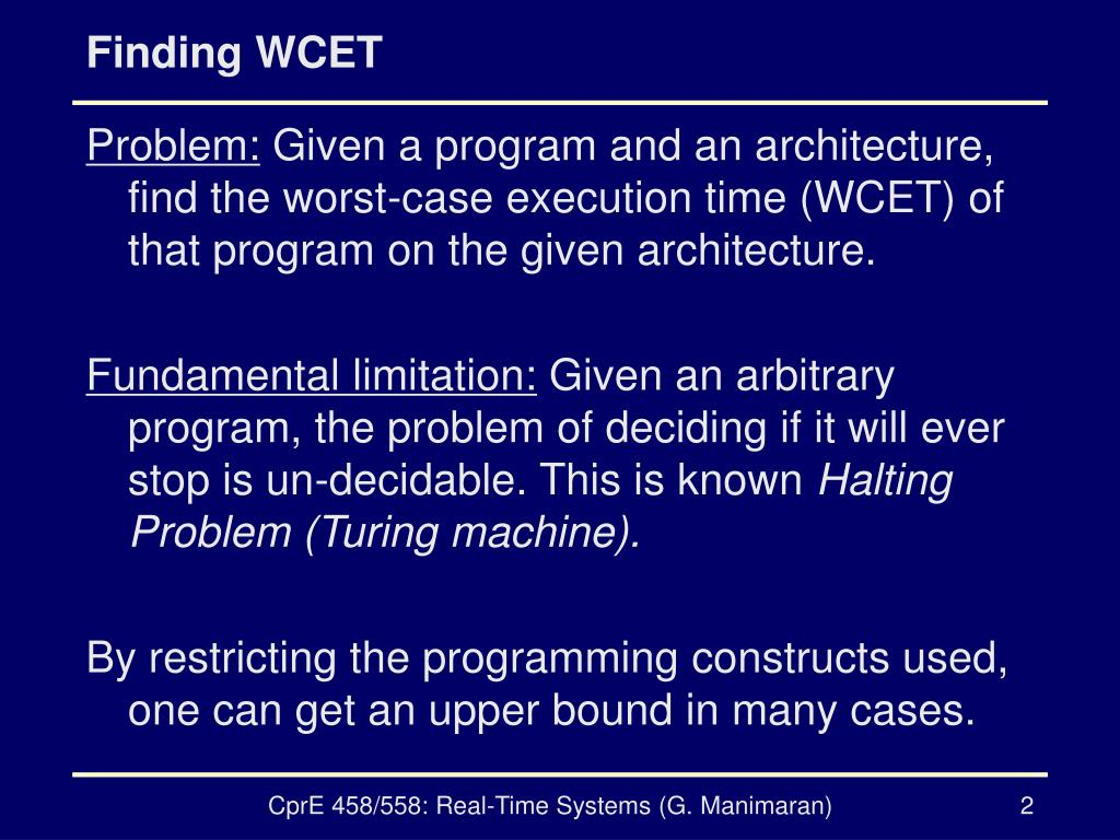 Finding WCET