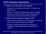 wcet estimation approaches