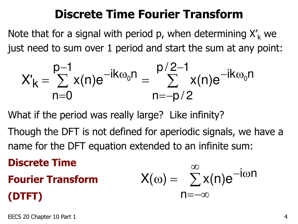 Discrete Time Fourier Transform