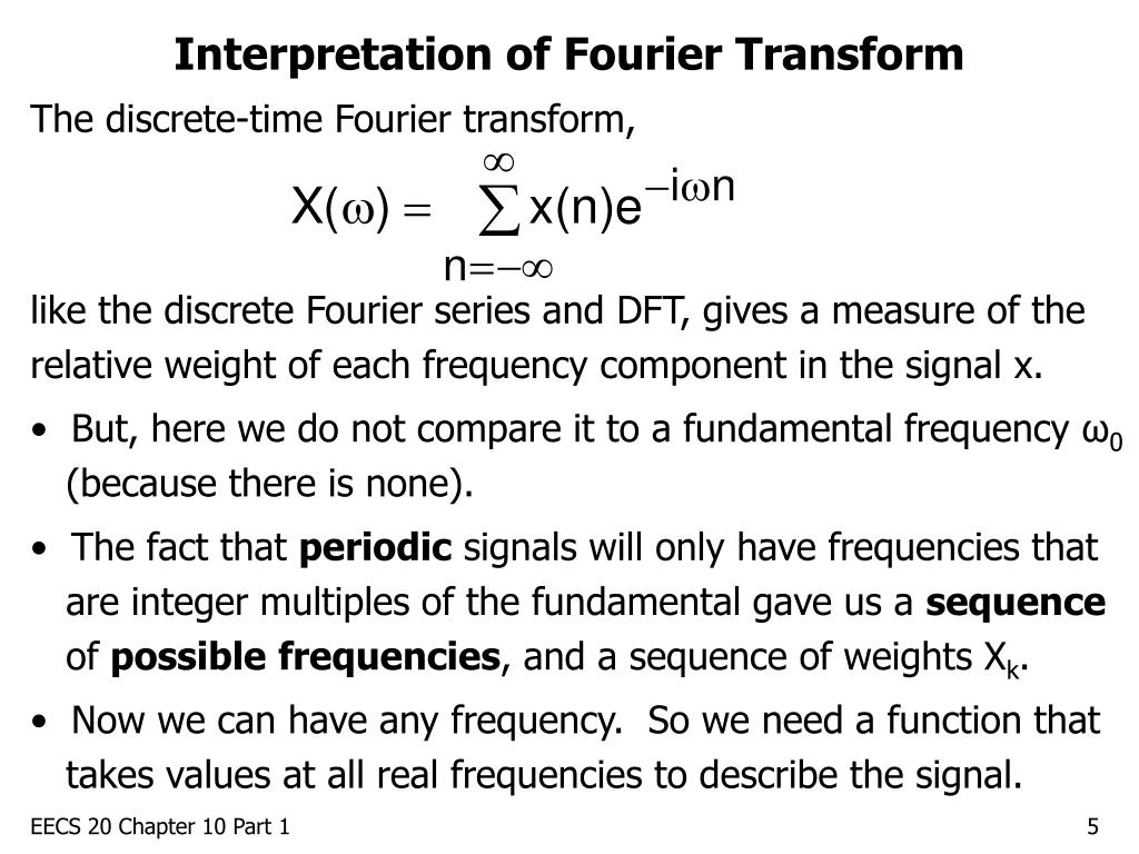 Interpretation of Fourier Transform