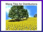 wang tiles for distributions21
