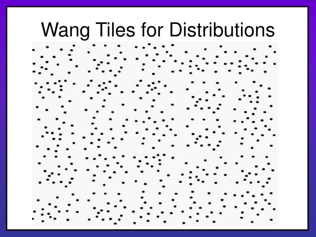 Wang Tiles for Distributions