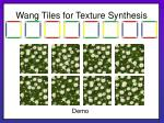 wang tiles for texture synthesis15