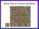 wang tiles for texture synthesis16