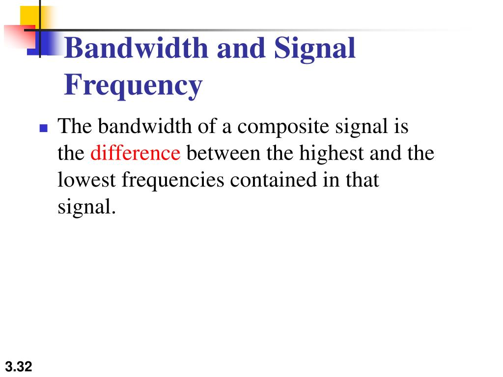 Bandwidth and Signal Frequency