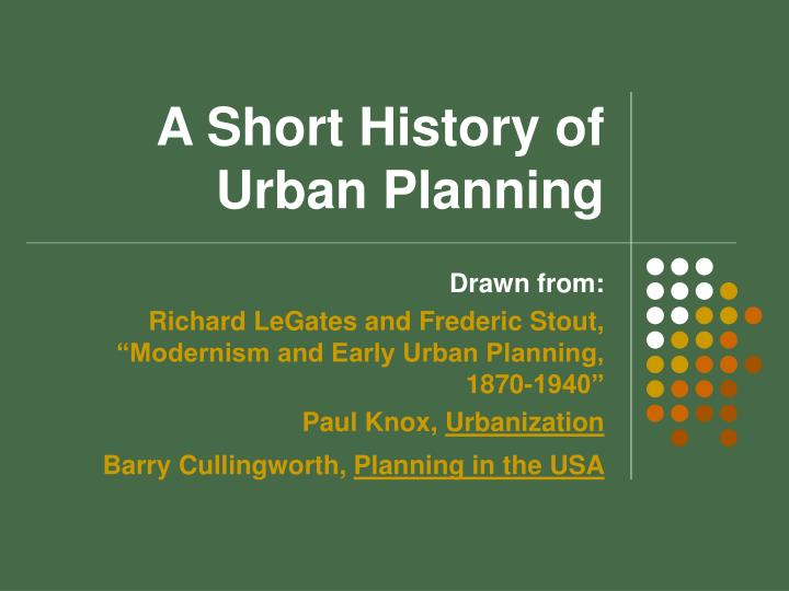 A short history of urban planning