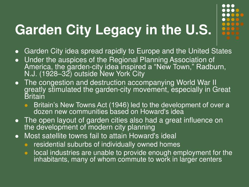 Garden City Legacy in the U.S.