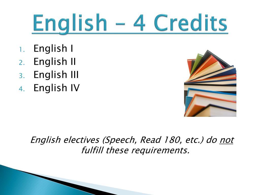 English – 4 Credits