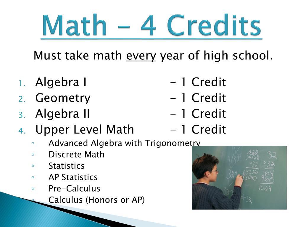 Math – 4 Credits