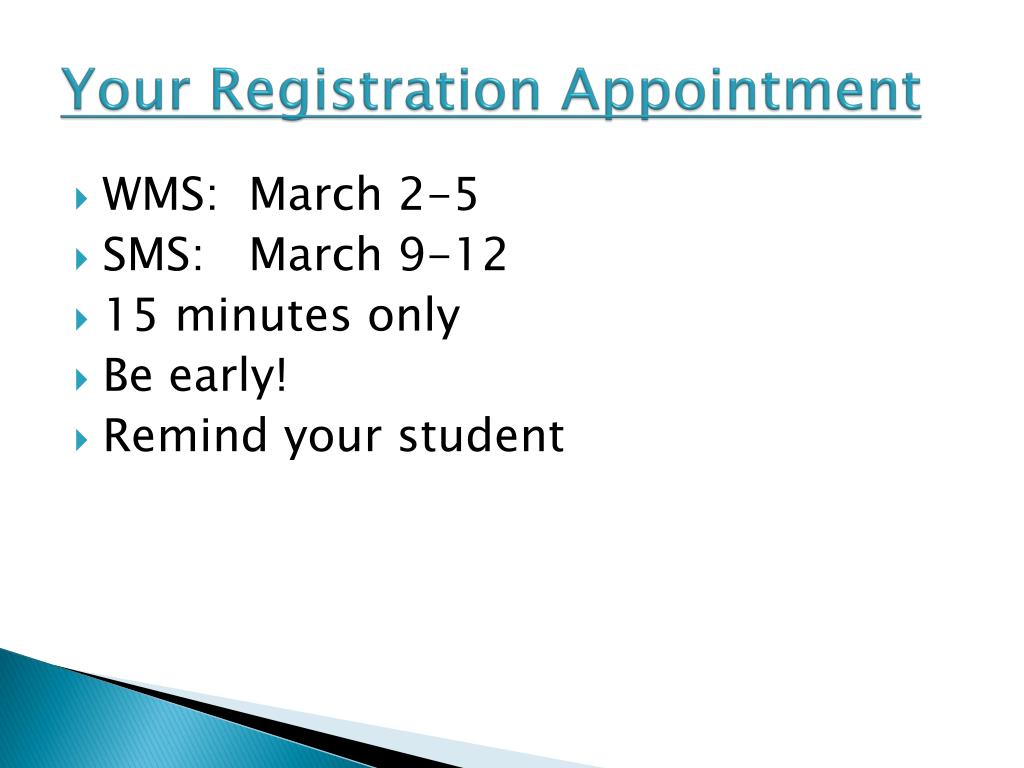 Your Registration Appointment