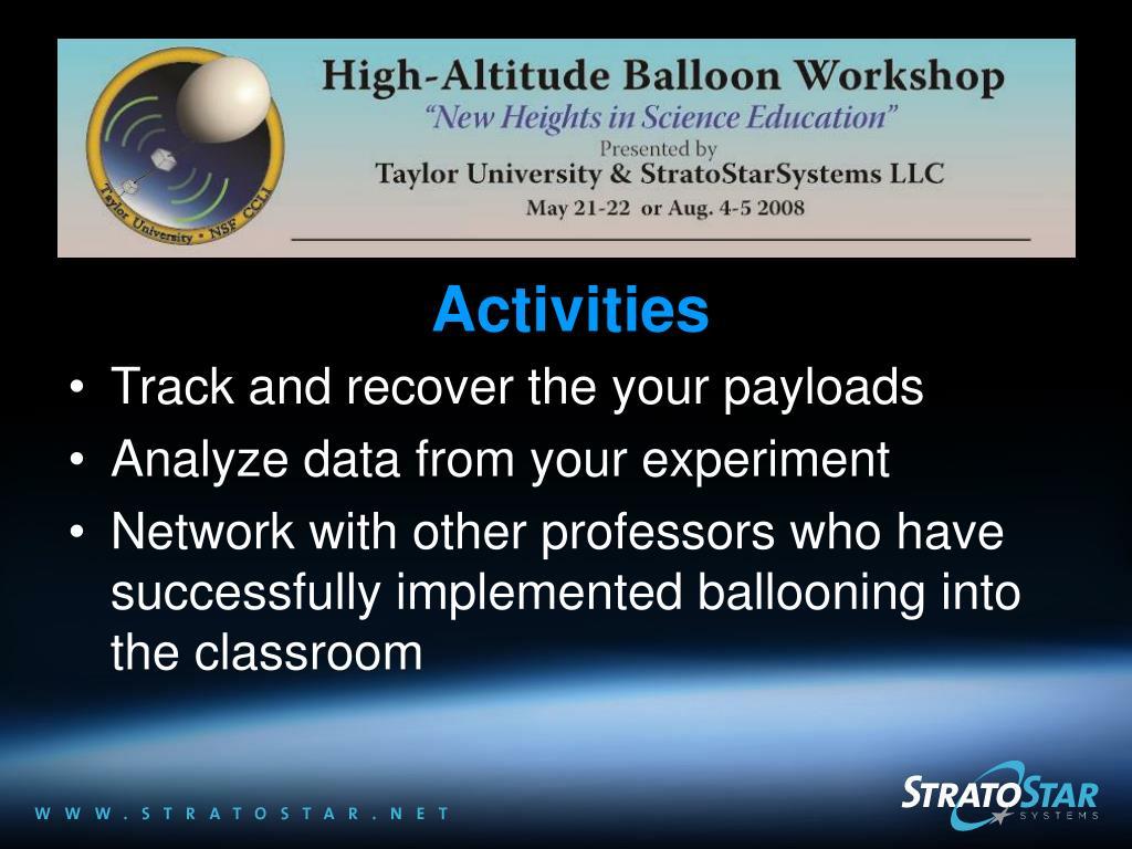 NSF High-Altitude Balloon Workshops