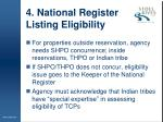 4 national register listing eligibility